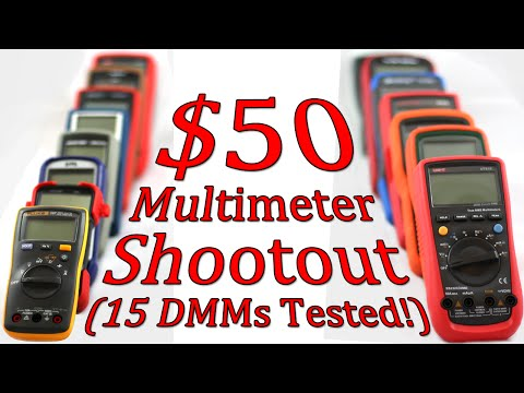 $50 Multimeter Shootout - Part 1 - 15 DMMs Compared! - Intro - #0068