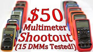$50 Multimeter Shootout - Part 1 - 15 DMMs Compared! - Intro - #0068