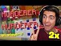 I GOT MURDERER TWICE IN A ROW! (Minecraft Murder Mystery)