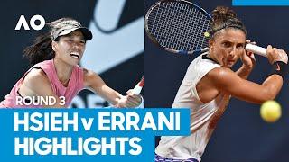 Su-Wei Hsieh vs Sara Errani Match Highlights (3R) | Australian Open 2021