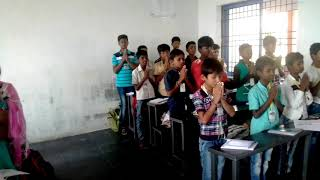 8th class student sing the song kannada subject poem