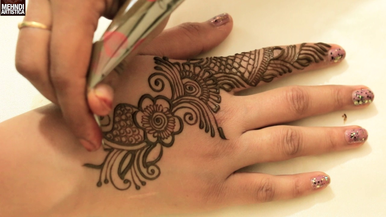 Easy Beautiful Designer Arabian Henna Mehndi Art Style Festival