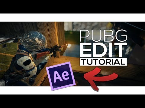 PUBG EDIT MONTAGE TUTORIAL | AFTER EFFECTS CC 2018 - how to edit a pubg montage