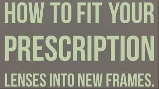 How to fit your prescription lenses into new frames.