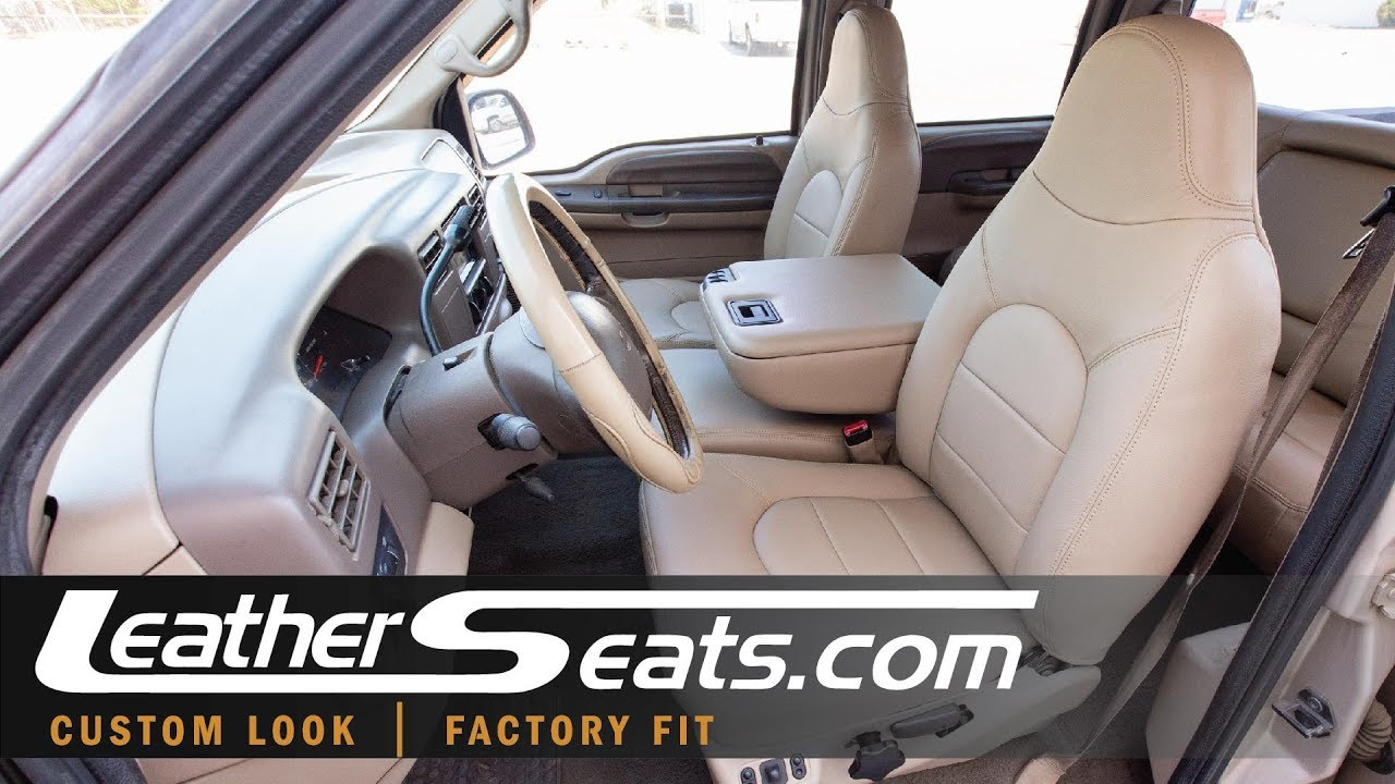 99 00 ford f 250 crew cab lariat leather upholstery kit leatherseats com [ 1280 x 720 Pixel ]