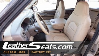 '99-'00 Ford F-250 Crew Cab Lariat Leather Upholstery Kit - LeatherSeats.com
