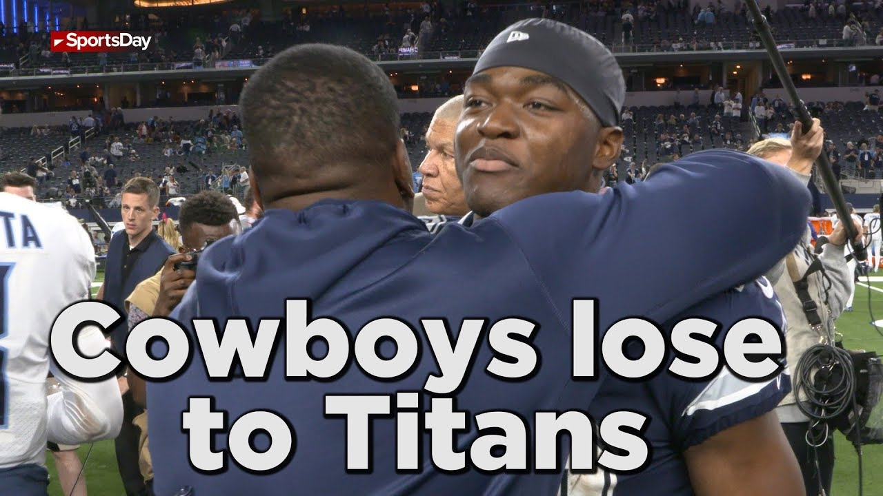Sights and sounds on the field after Cowboys loss