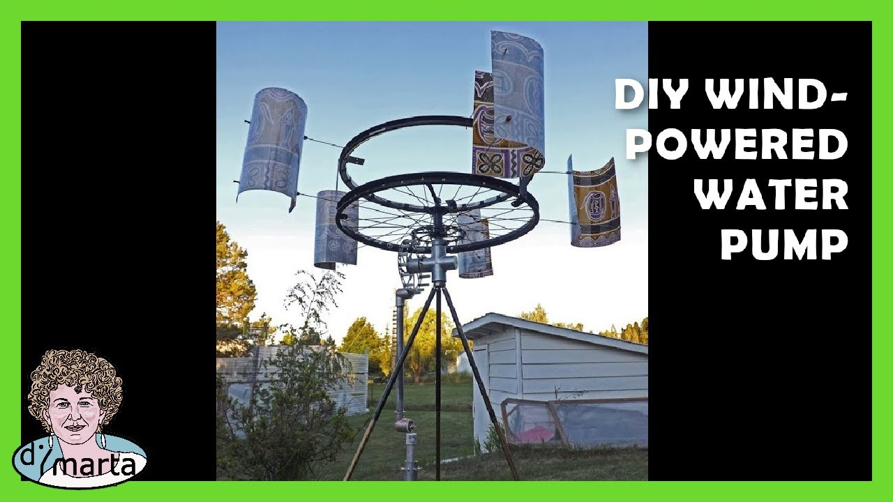 diy wind powered water pump cata vento com bomba de agua youtube