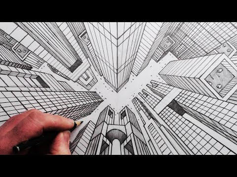 How to Draw a City: Looking Up and Down Illusion