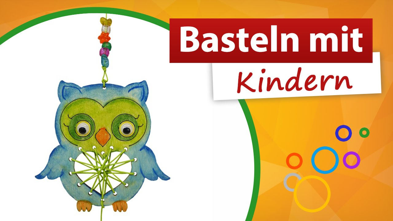kindergeburtstag bastelidee eule basteln mit kindern trendmarkt24 youtube. Black Bedroom Furniture Sets. Home Design Ideas
