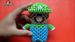 Origami 3D Mini Luigi (Mario Bros)