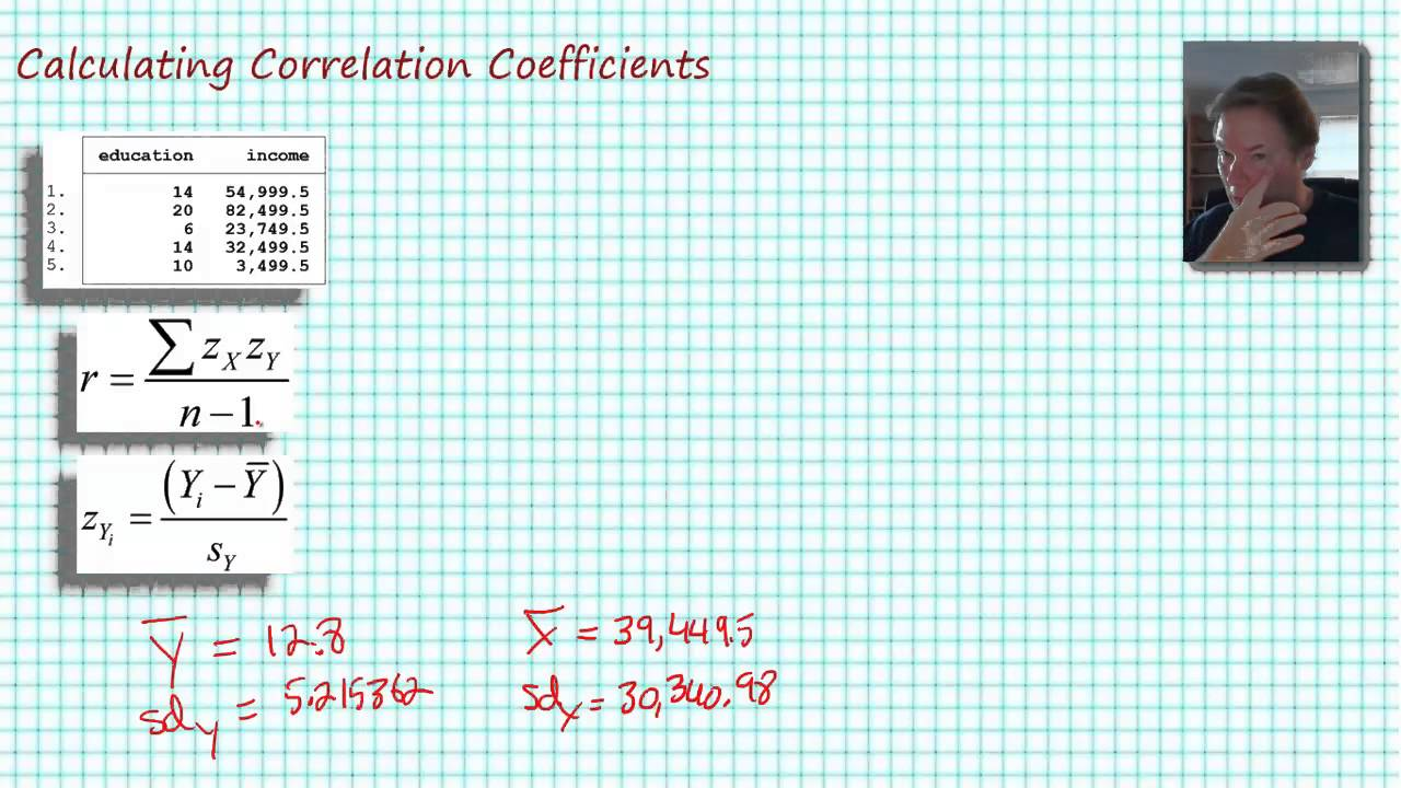 Calculating Correlation Coefficients by Hand