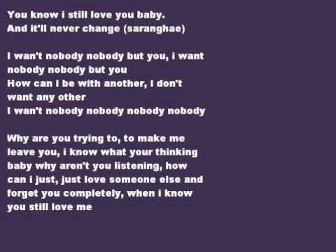 Nobody  Wonder Girls English Version Song and Lyrics