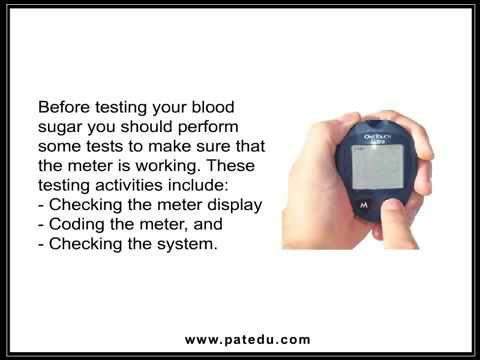 Using Your Blood Glucose Meter   One Touch Ultra