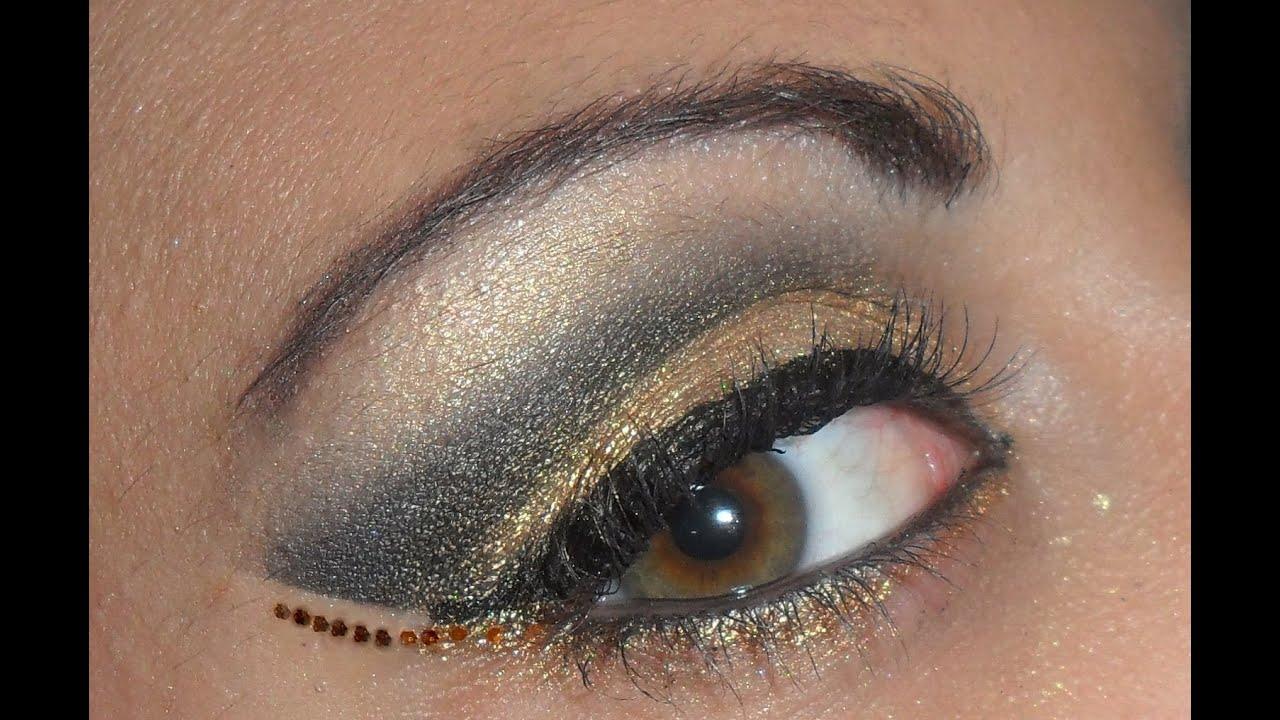 abbastanza Tutorial Make-up Oro e Nero- black and golden eyes - YouTube NO81