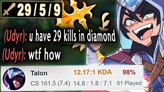 When a Challenger Talon gets placed in Diamond...