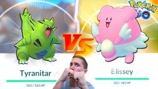 TYRANITAR VS BLISSEY! WHO IS THE BETTER GEN 2 POKEMON? Pokemon Go Gym Battle Challenge!