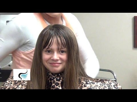 Cut Blunt Bangs into Long Hairstyles