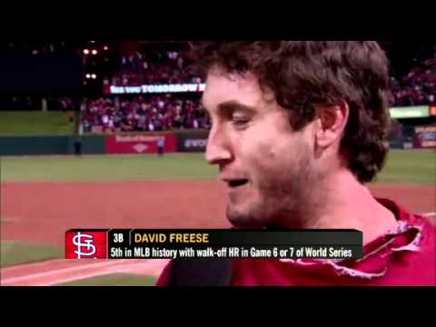 David Freese Talks Dirty During Interview