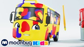 Buster's Color Rap - Learn Primary Colors | Cartoons and Kids Songs | Go Buster  Rhymes For Kids