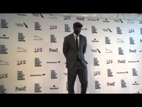 Idris Elba ('Beasts of No Nation') chats in the Independent Spirit Awards press room