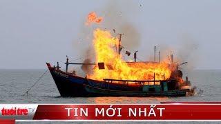 Cháy 3 tàu đánh cá. thiệt hại hàng tỷ đồng