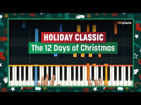 How To Play The Twelve Days of Christmas  HDpiano Part 1 Piano Tutorial