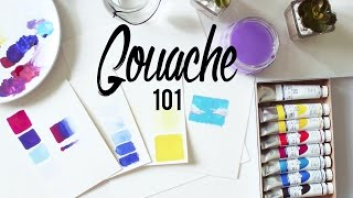 One of Minnie Small's most viewed videos: Gouache 101 · Tips and Techniques + Paper, Brushes and Cheap vs. Expensive · SemiSkimmedMin