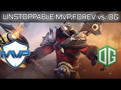 UNSTOPPABLE MVP.FOREV AXE vs. OG TI6 MAIN EVENT Dota 2