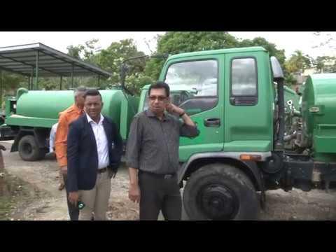 Minister Kazim Hosein visits the Mayaro/Rio Claro Regional Corporation's Transport Yard
