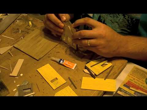 Scratch building an HO structure – Time-lapse