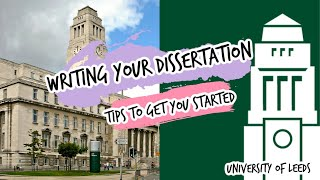 Writing your dissertation: tips on getting started [MA HRM University of Leeds]