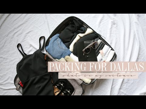 What's in my Suitcase? Packing for four days in Dallas | Mademoiselle
