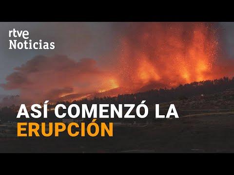 VOLCÁN DE LA PALMA: Así se abrió la montaña y comenzó a salir la LAVA   RTVE Noticias