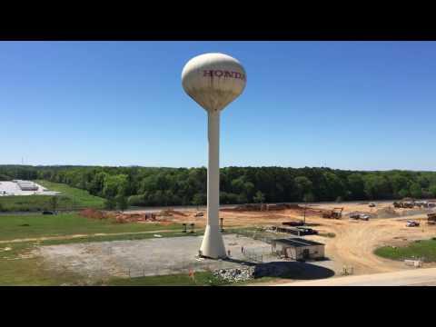 180 foot water tower falling!