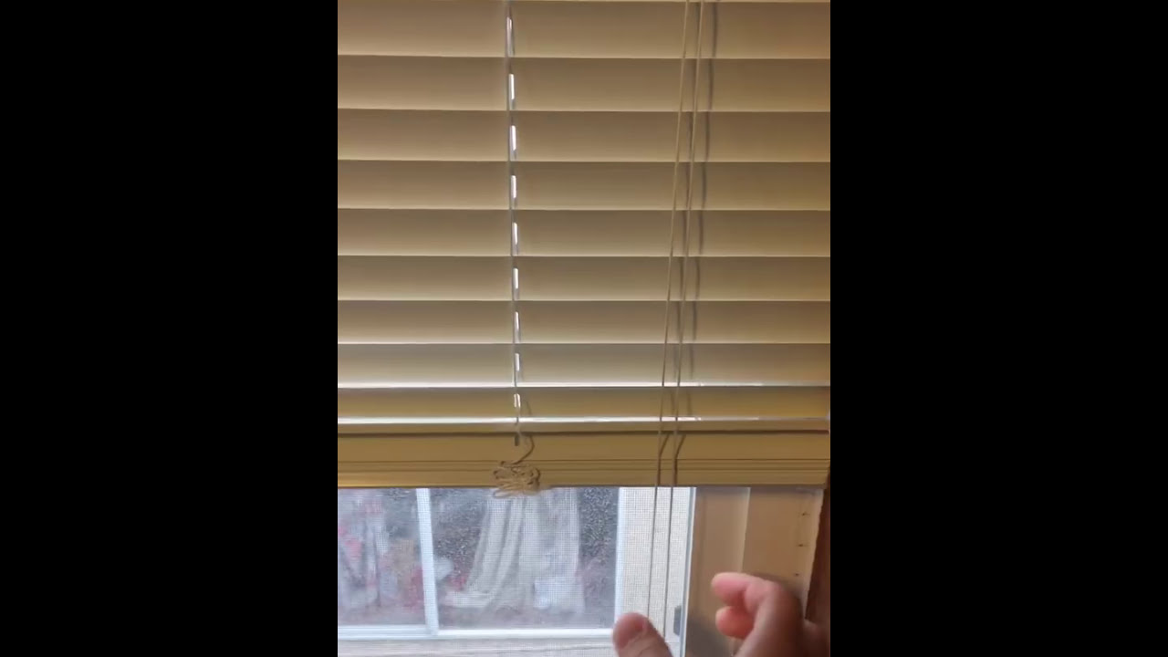 How To Drop Down Blinds Youtube