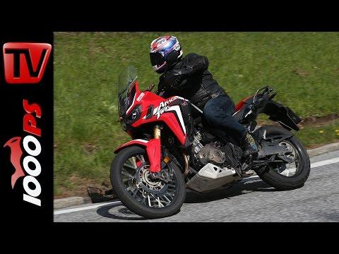 Honda Africa Twin Test 2016   Motorrad Quartett   Action, Onboard, Details