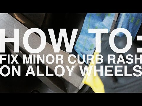 How To Fix Minor Curb Rash Scratches On Alloy Wheel (Diamond Turned)