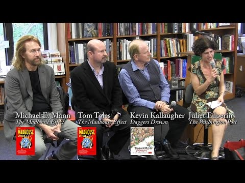 Michael E. Mann, Tom Toles, and Kevin Kallaugher at P&P
