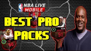 Nba Live mobile PRO Pack Opening! BEST PACKS(Curry, Shaq ...)
