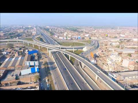 Gujranwala City 2018 | Biggest Flyover of Pakistan