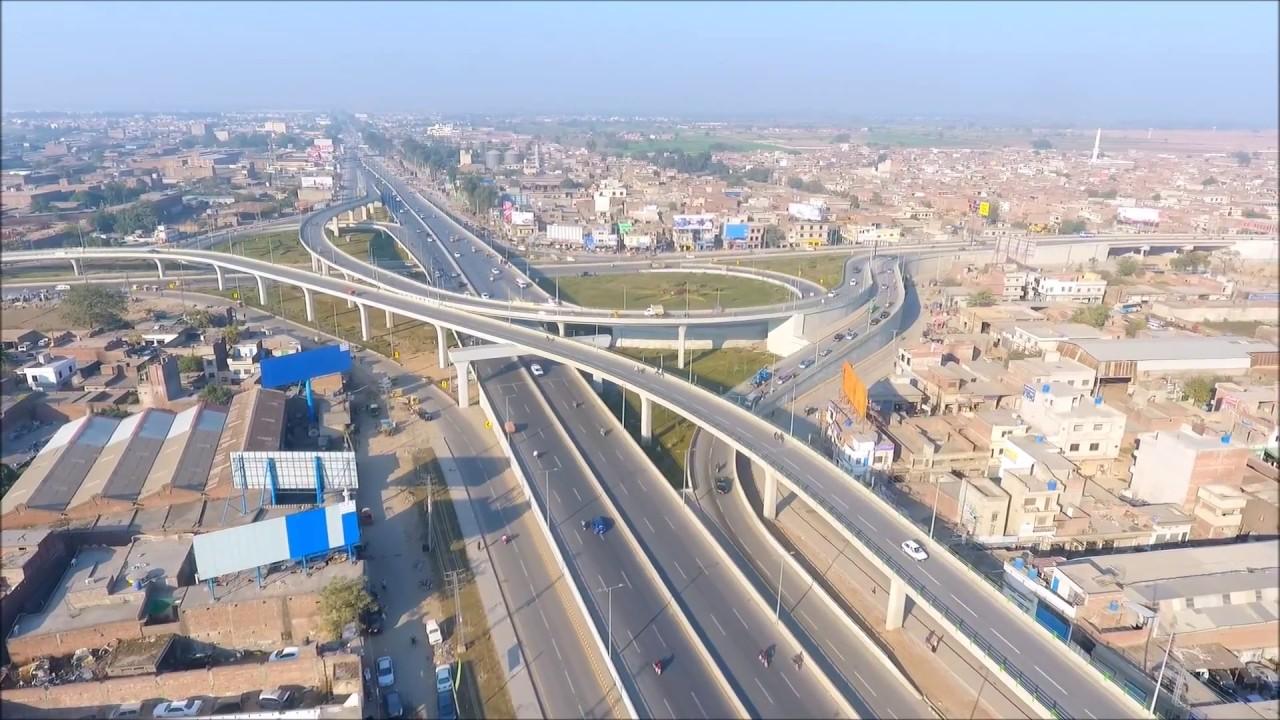 gujranwala city 2018 biggest flyover of pakistan youtube
