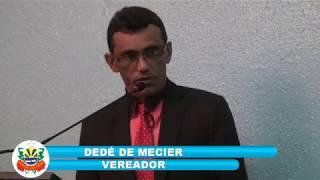 Dedé de Mecier - pronunciamento 05 08 2017