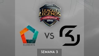Elements vs SK Gaming - Semana 3 - Día 2 - LCS Europa Spring Split 2015 - Español