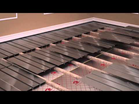 ProWarm™ warm water underfloor heating kit installation - Aluminium spreader plate method