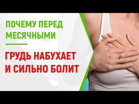 Когда начинает болеть грудь перед месячными