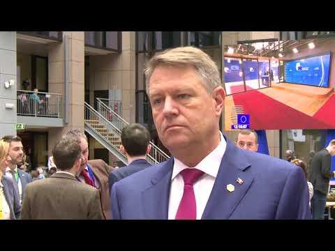 Declaratie Klaus Iohannis dupa Consiliul European din 23 martie 2018