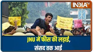 JNU Showdown: Protest Turns Ugly As Cops-Students Face-Off In Delhi   IndiaTV News