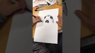 Live Drawing of a Porg from New Star Wars Movie