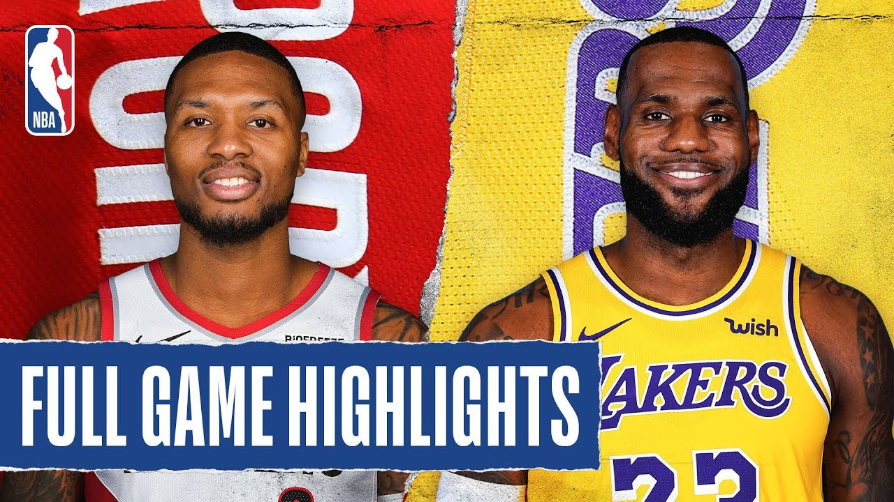 Trail Blazers At Lakers Full Game Highlights January 31 2020 Youtube